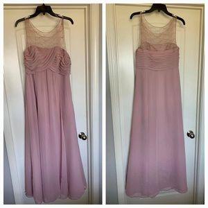 Alfred Angelo blush bridesmaid dress